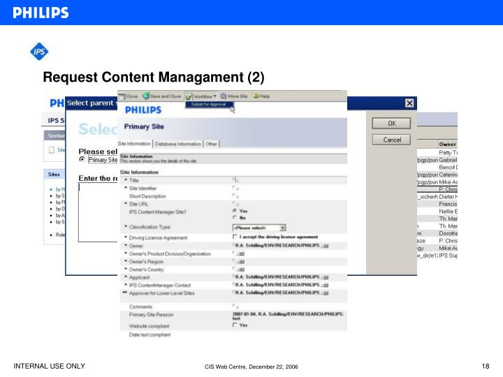 Request Content Managament (2)