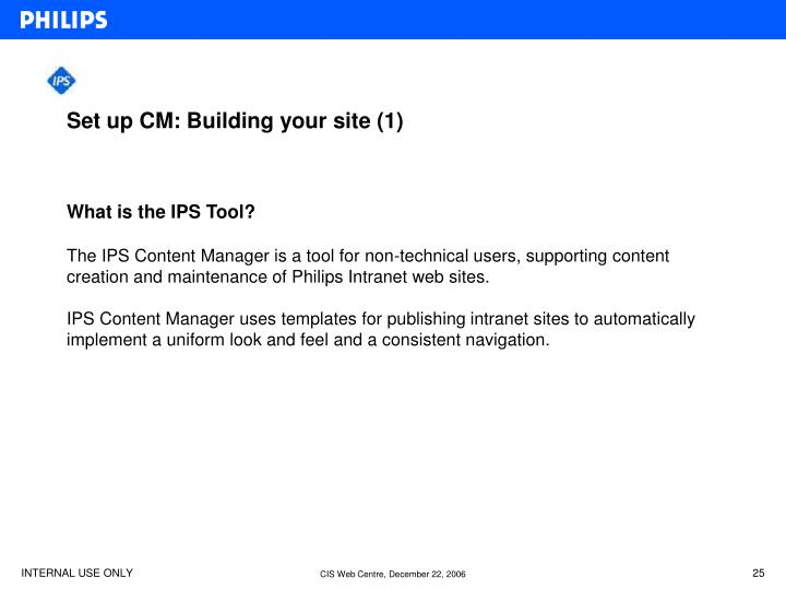 Set up CM: Building your site (1)
