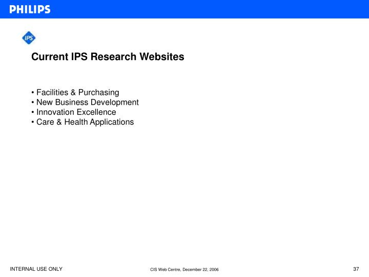 Current IPS Research Websites