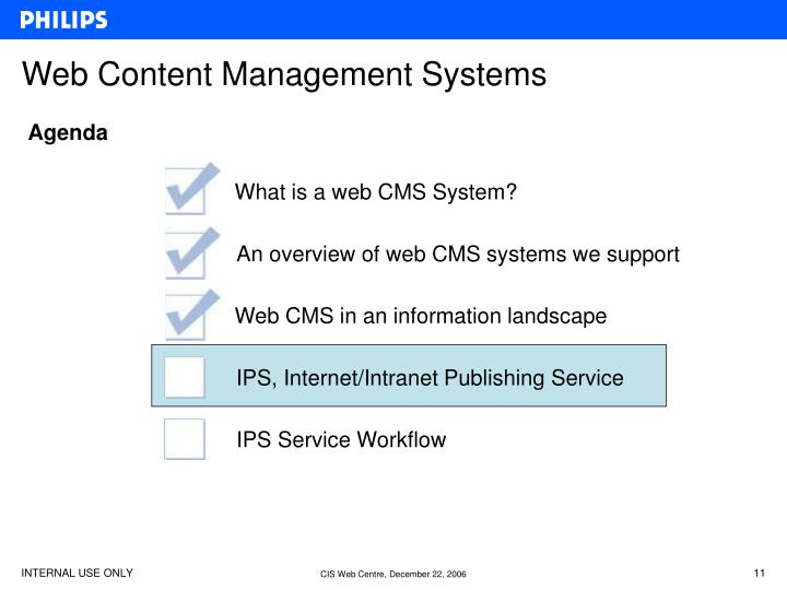 Web Content Management Systems