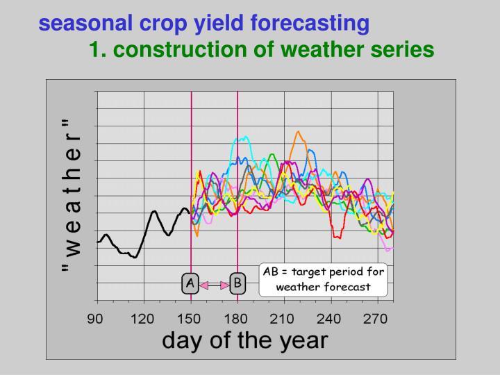 seasonal crop yield forecasting
