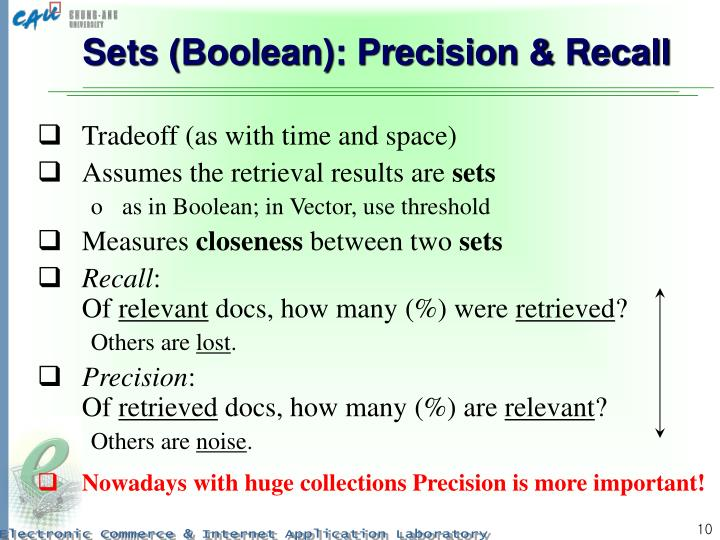 Sets (Boolean): Precision & Recall