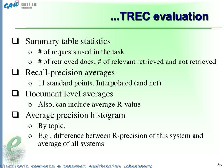 ...TREC evaluation