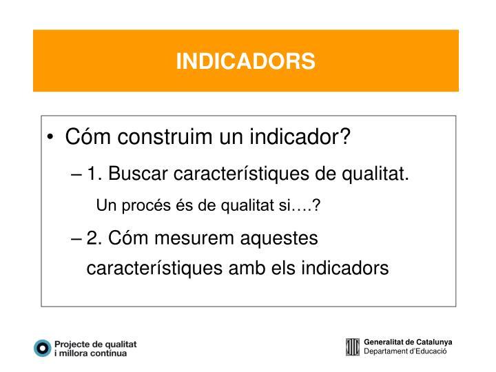 Cóm construim un indicador?