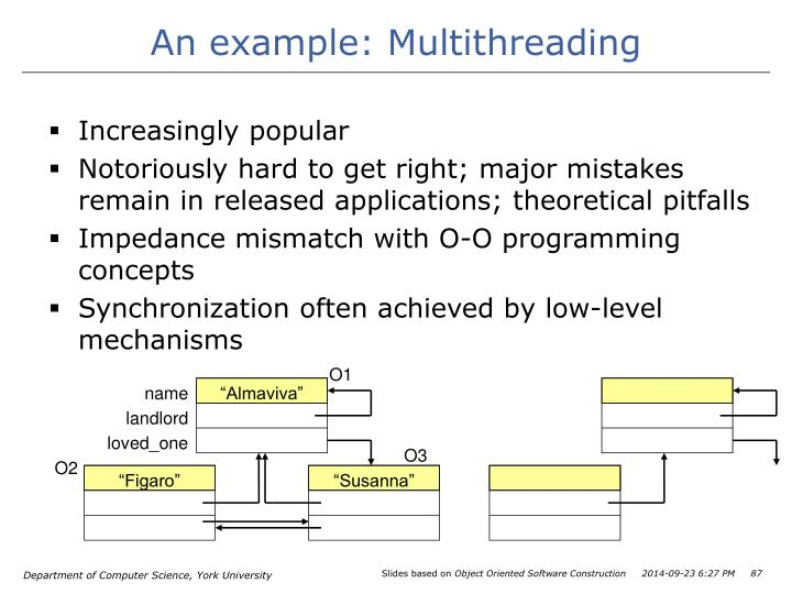 An example: Multithreading