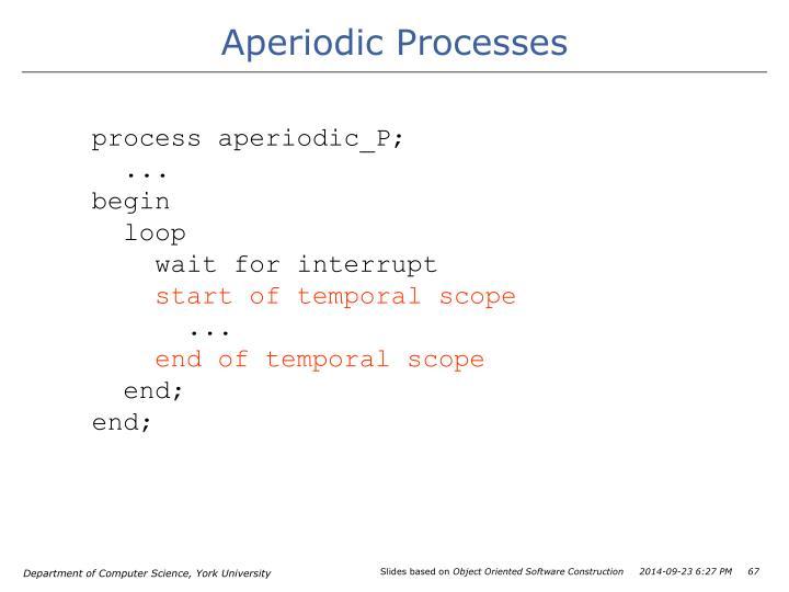 Aperiodic Processes