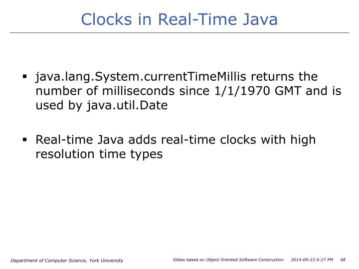 Clocks in Real-Time Java