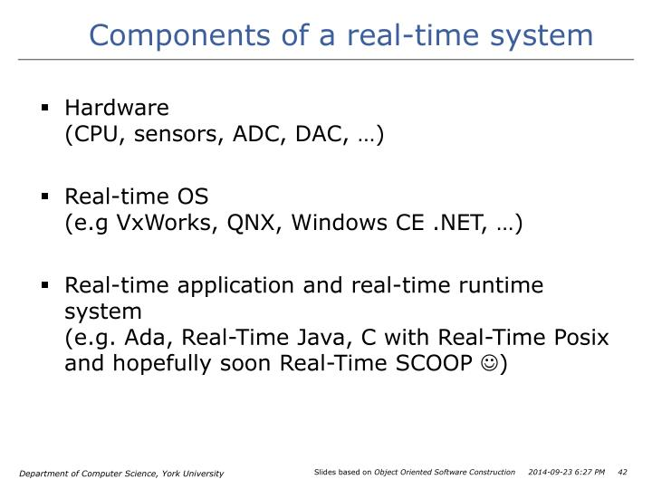 Components of a real-time system