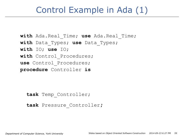 Control Example in Ada (1)