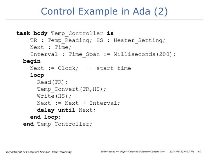 Control Example in Ada (2)