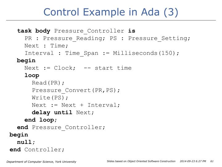 Control Example in Ada (3)