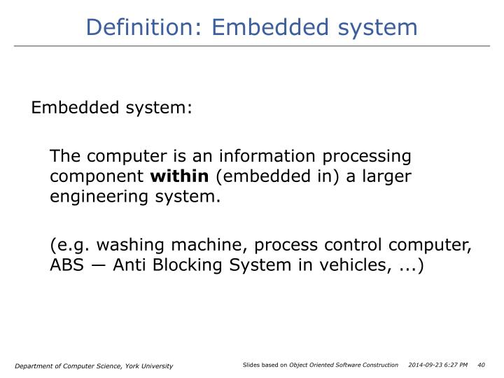 Definition: Embedded system