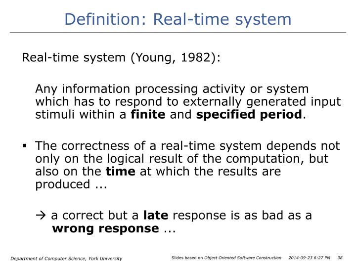 Definition: Real-time system