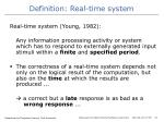 definition real time system