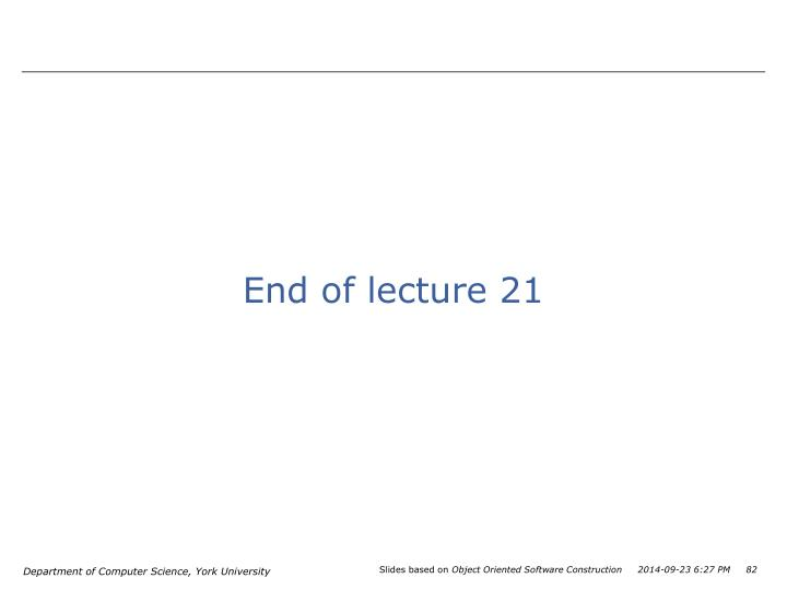 End of lecture 21