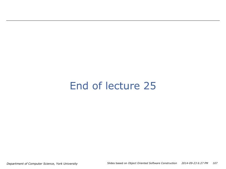 End of lecture 25