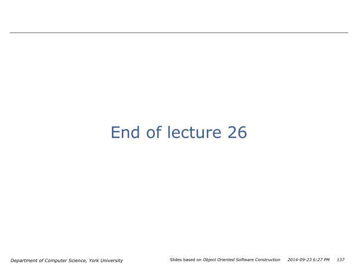End of lecture 26