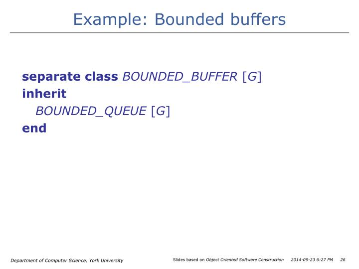 Example: Bounded buffers