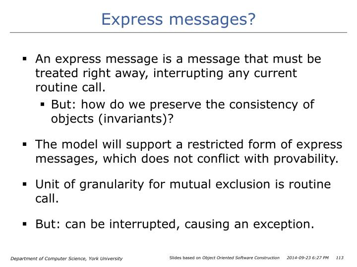 Express messages?