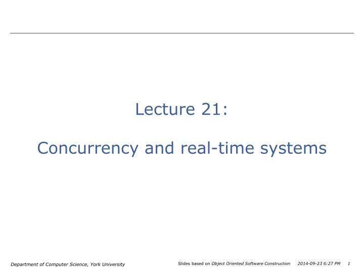 Lecture 21: