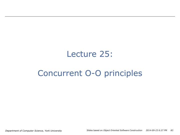 Lecture 25: