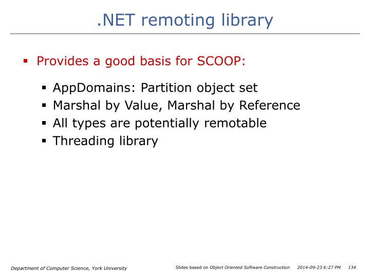 .NET remoting library
