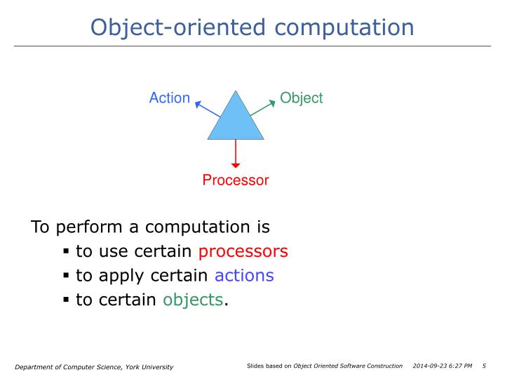 Object-oriented computation