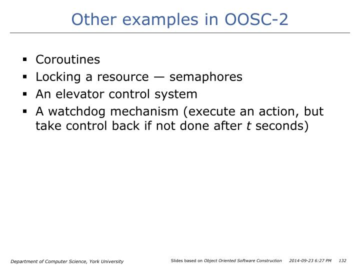 Other examples in OOSC-2