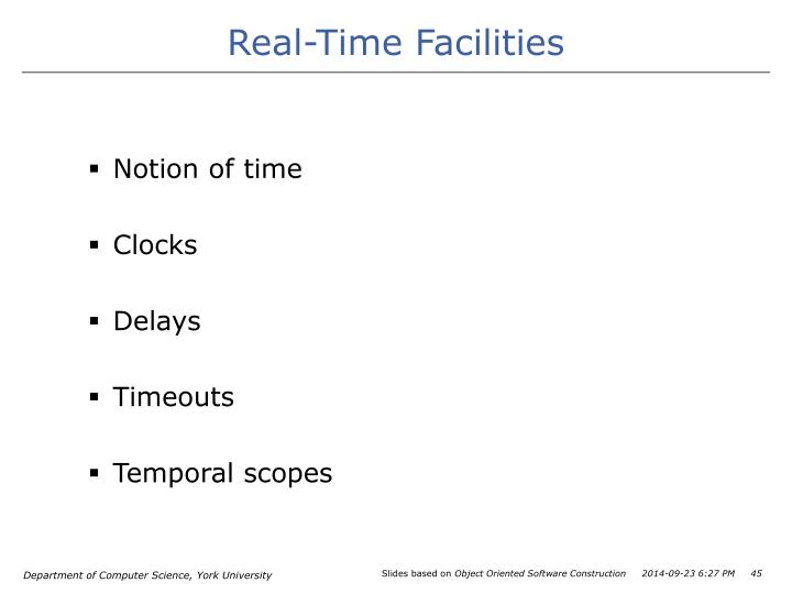 Real-Time Facilities