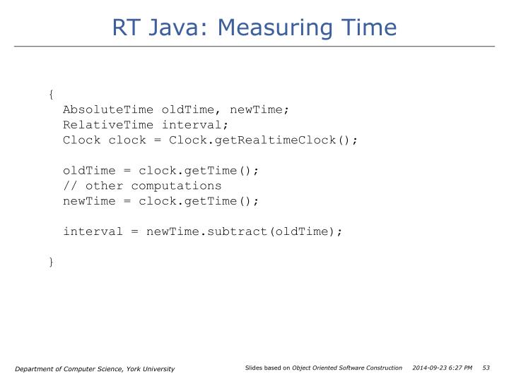 RT Java: Measuring Time