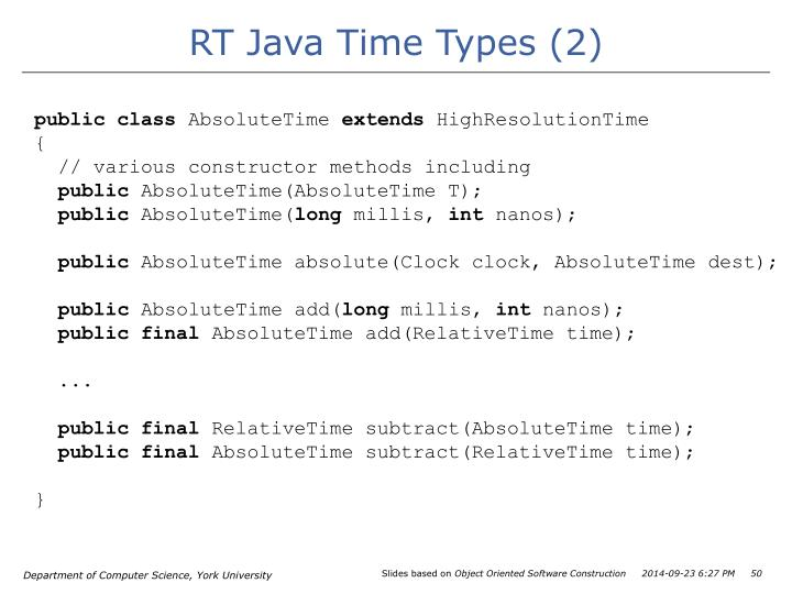 RT Java Time Types (2)