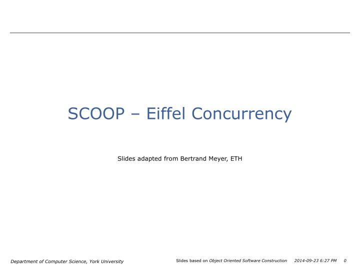 Scoop eiffel concurrency