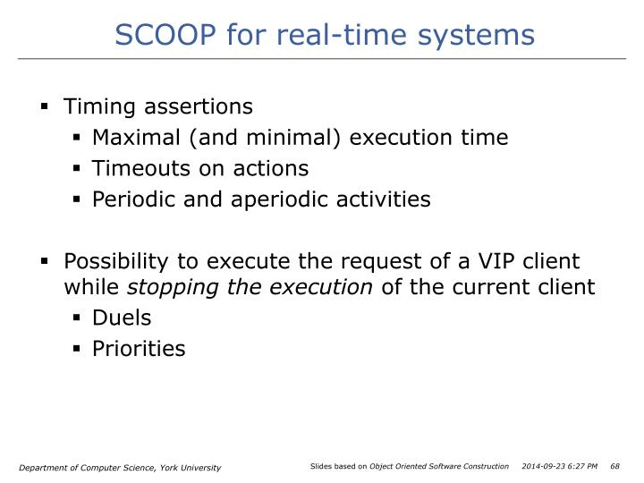 SCOOP for real-time systems