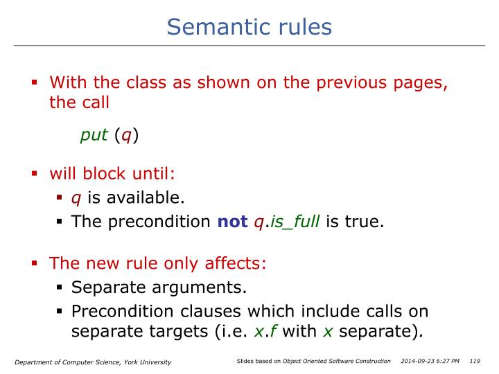 Semantic rules