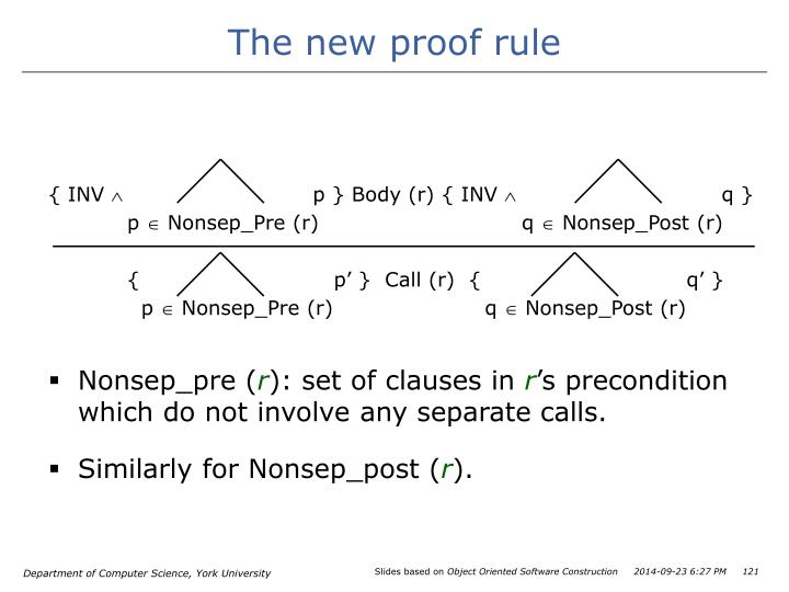 The new proof rule