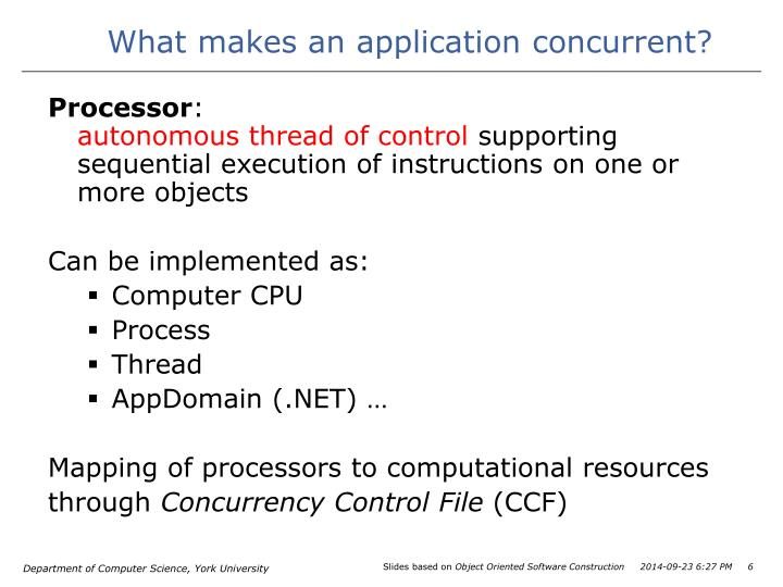 What makes an application concurrent?
