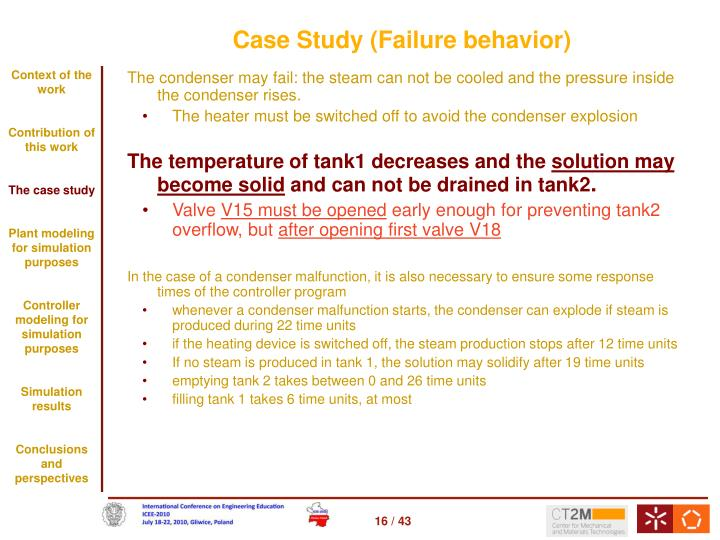 Case Study (Failure behavior)