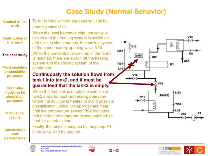 Case Study (Normal Behavior)