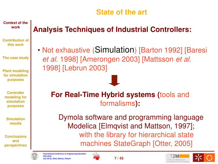 For Real-Time Hybrid systems (