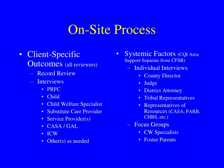Client-Specific Outcomes