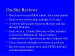 on site reviews
