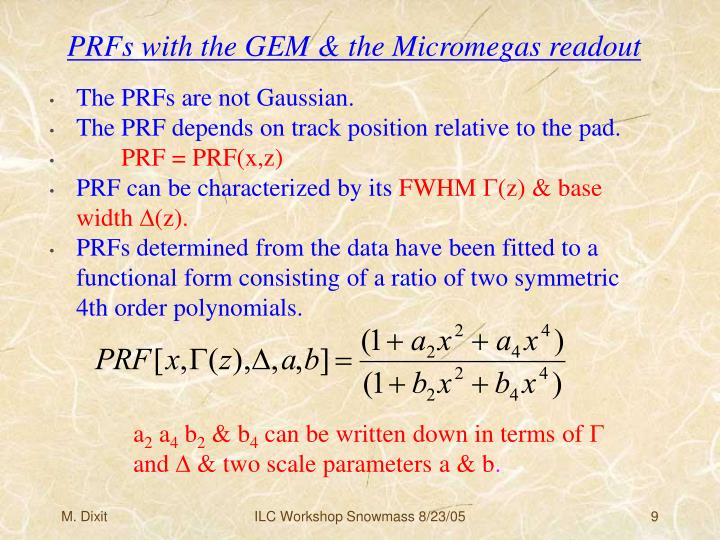 PRFs with the GEM & the Micromegas readout