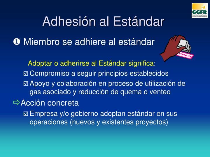 Adhesión al Estándar