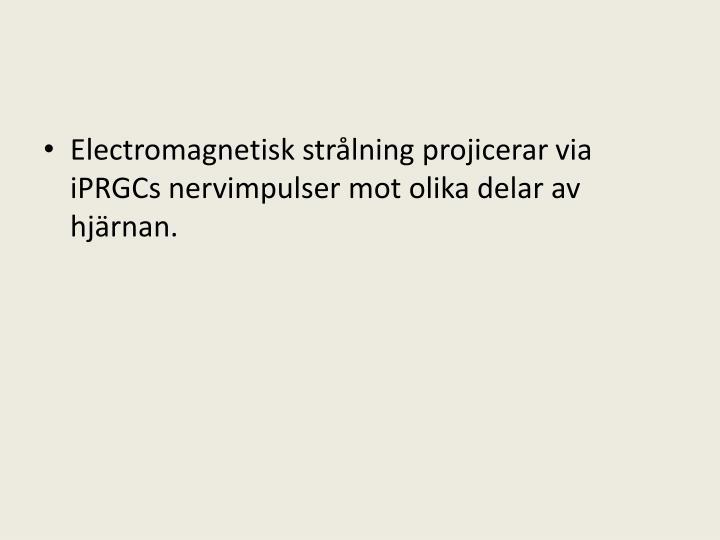 Electromagnetisk strålning projicerar via iPRGCs nervimpulser mot olika delar av hjärnan.