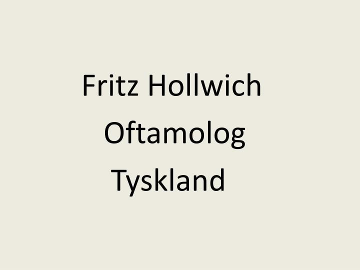 Fritz Hollwich