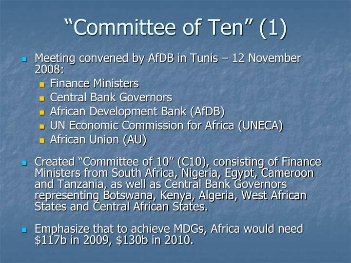 Committee of ten 1