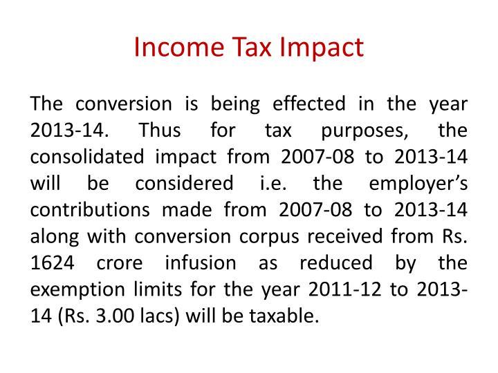 Income Tax Impact