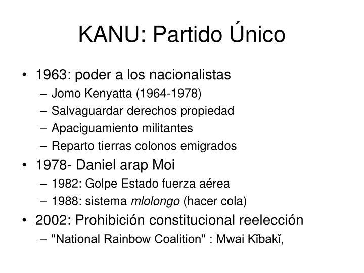 KANU: Partido Único