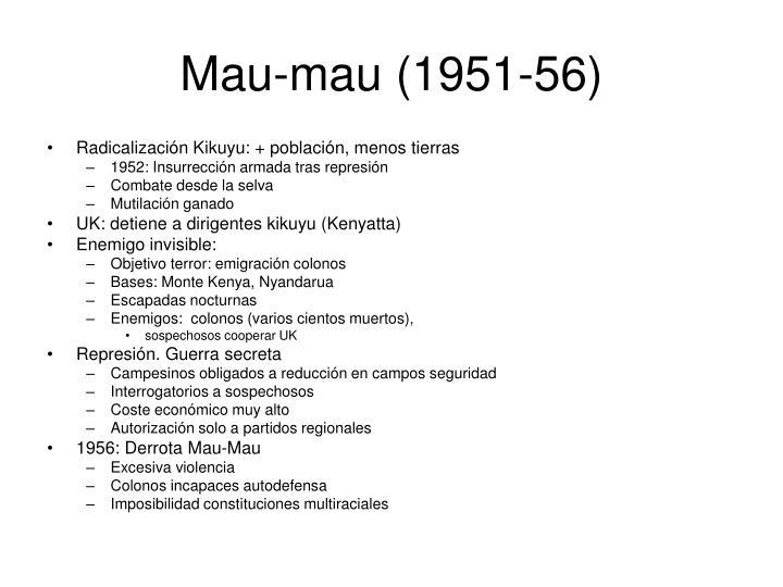 Mau-mau (1951-56)