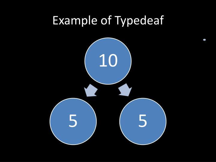 Example of Typedeaf